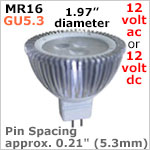 12 vac MR16 LED Bulbs