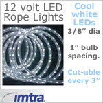 12 Volt LED Rope Lights Cool White