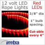 12 Volt Red LED Rope Lights