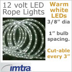 12 Volt LED Rope Lights Warm White