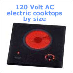 120 VAC Electric Cooktops by Size