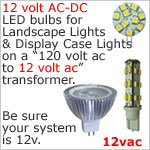 12v AC LED Bulbs
