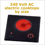 240 VAC Electric Cooktops by Size