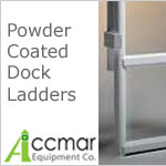 Powder Coated Dock Ladders with 2 inch deep steps