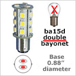 Double bayonet 12 volt LED Bulbs