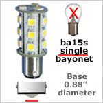 Single bayonet 12 volt LED bulbs