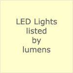 12 volt LED Lights by Lumens