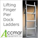Dock Ladders - Finger Pier with 2 inch deep steps