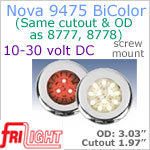 12 Volt LED Lights - Nova 9475 BiColor