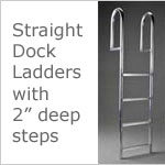 Dock Ladders - Straight with 2 inch deep steps