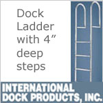 Dock Ladders - Straight with 4 inch deep steps