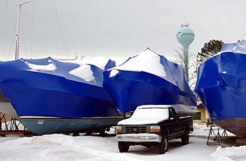 It is now boat shrink wrap season