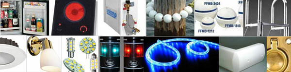 Boat appliances, boat and RV lights, dock products