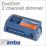 12 volt Dimmer (9-33vdc) - Intervolt DuoDim 2 Channel Switchmode Dimmer, 100 watts per channel at 12vdc, 200 watts at 24vdc (200-400w combined)