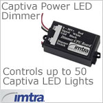 12 volt dimmer (8-30vdc) - Imtra Captiva PWM Dimmer Module for up to 50 Imtra Captiva Power LED spots, momentary operation
