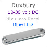 12 volt LED Courtesy Light (10-30vdc) - Duxbury, Stainless Steel, blue LED, IP65