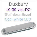 12 volt LED Courtesy Light (10-30vdc) - Duxbury, Stainless Steel, cool white LED, IP65