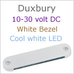 12 volt LED Courtesy Light (10-30vdc) - Duxbury, White finish, cool white LED, IP65