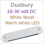 12 volt LED Courtesy Light (10-30vdc) - Duxbury, White finish, warm white LED, IP65