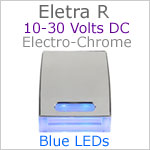 12 volt courtesy LED light (10-30vdc) - Eletra-R LED Light, Chrome, blue LED, IP67