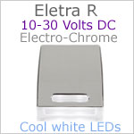 12 volt courtesy LED light (10-30vdc) - Eletra-R LED Light, Chrome, cool white LED, IP67