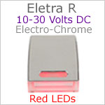 12 volt courtesy LED light (10-30vdc) - Eletra-R LED Light, Chrome, red LED, IP67