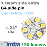 12 volt LED Relpacement Bulb (10-30 Volt DC), Side Entry Imtra X Beam G4, Cool White LED's, 2.2 Watt, 150 Lumens