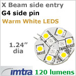 12 volt LED Relpacement Bulb (10-30 Volt DC), Side Entry Imtra X Beam G4, Warm White LED's, 2.2 Watt, 120 Lumens