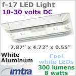 12 volt LED Utility Light (10-30vdc) - F-17 Aluminum, White, 4 x 1W Cool White LEDs