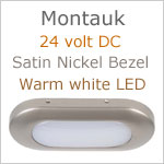 Montauk LED Light, 24V, Satin Nickel, warm white LED, IP40, Length x width: 3.06 x 1.35 inches