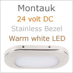 Montauk LED Light, 24V, Stainless Steel, warm white LED, IP65, Length x width: 3.06 x 1.35 inches