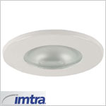 12 volt Ceiling Light - Norfolk 69, white finish, frosted lens, G4 socket (10 watt bulb max, bulb sold separately), ip65