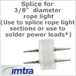 Invisible/Easy Splice Connector for 3/8 inch LED Rope Light (shrink tube recommended)