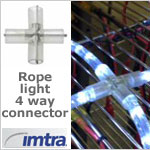 4-Way Connector for 3/8 inch LED Rope Light