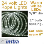 24 Volt LED Rope Lights, WARM white LEDs