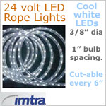 24 Volt LED Rope Lights, COOL white LEDs