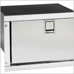 Marine Refrigerators - Cruise 36 Stainless Steel Marine Refrigerator - AC-DC 115-230v - 12-24v, 4 Sided Stainless Steel Flange. Ships by LTL Freight Carrier.