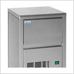 Marine Ice Maker Stainless Steel - Spray type 230V-60Hz - AC Only - 40 pounds of crystal clear ice per day. Ships by LTL Freight Carrier.