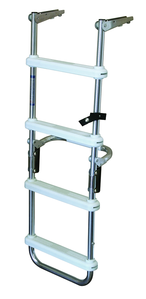 Jif Marine 4 Step Folding Pontoon Ladder With Flush Mount