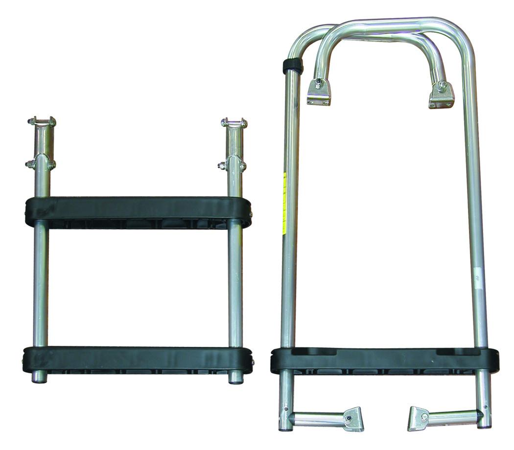 Jif Marine 3 Step Transom Ladder With Folding Bottom Steps