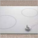 Electric Cooktop - Kenyon Antarctic Two burner white Electric Cooktop, with analog control (6 ½ & 8 inch burners) 120V UL