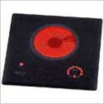 Electric Cooktop - Kenyon Lite Touch Q Indoor-Outdoor, 6.5 inch Single Burner Electric Cooktop, 120v, 1200 watt, 10 amp