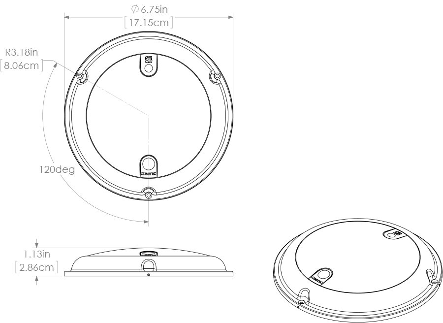 Lumitec Touch Dome Surface Mounting  Ip67 Dome Light