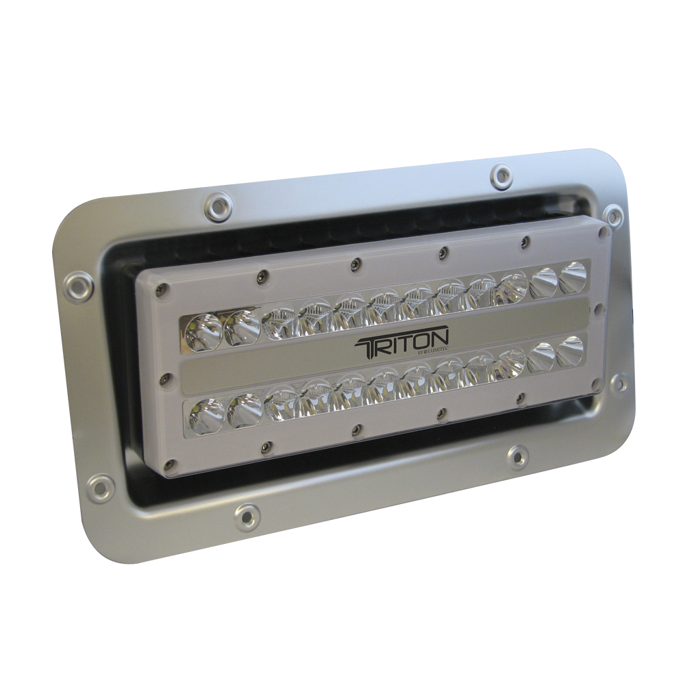 lumitec triton led semi recessed ip67 flood light 12 24 120 or 240 volt. Black Bedroom Furniture Sets. Home Design Ideas