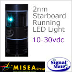 2 Nautical Mile Starboard Running LED Light