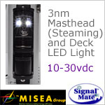 3 Nautical Mile LED Masthead (Steaming) and White LED Deck Light