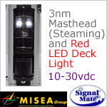 3 Nautical Mile LED Masthead (Steaming) and Red LED Deck Light
