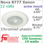12 volt Ceiling Lights - Nova FriLight 8777 Recess Ceiling Light, CHROME colored Bezel with 10 Watt XENON Bulb