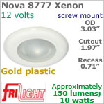 12 volt Ceiling Lights - Nova 8777 Recess Ceiling Light, GOLD colored Bezel with 10 Watt XENON Bulb