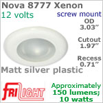 12 volt Ceiling Lights - Nova 8777 Recess Ceiling Light, MATT SILVER colored Bezel with 10 Watt XENON Bulb